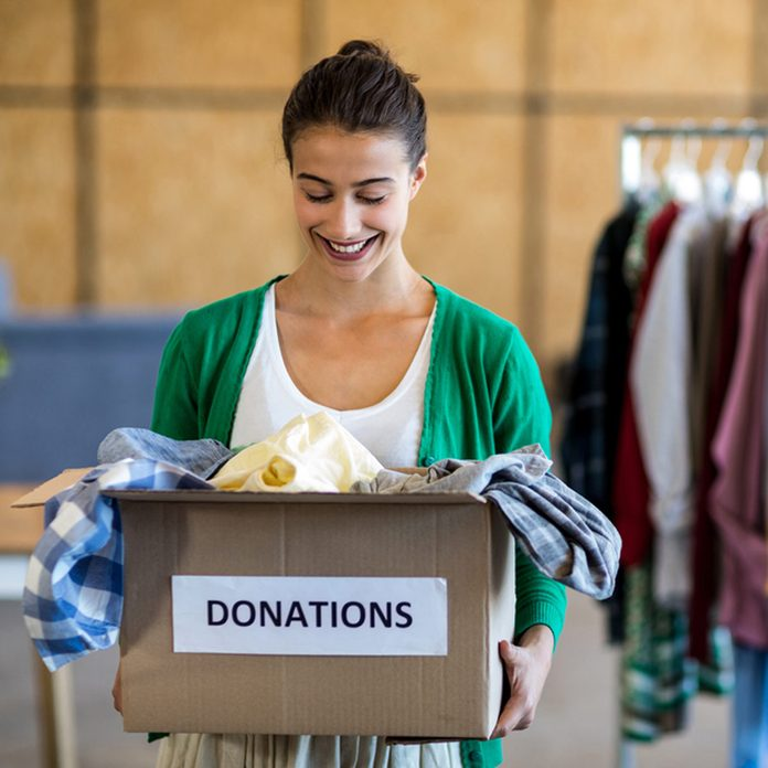 shutterstock_400679098 clothes donations closet space