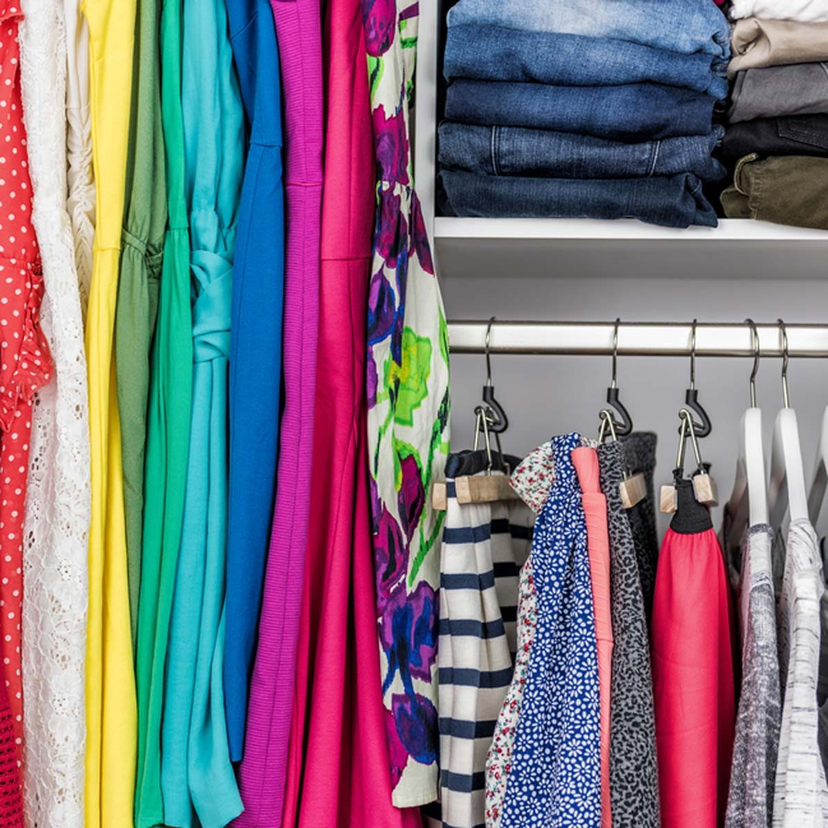 12 Awesome Closet Storage Hacks The Family Handyman,Where To Hang Curtains With Craftsman Trim