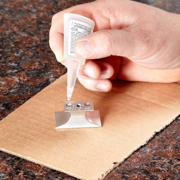 Super-glue the knob