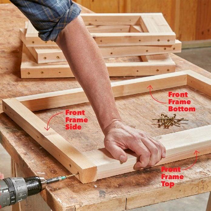 assembling the fire table frames