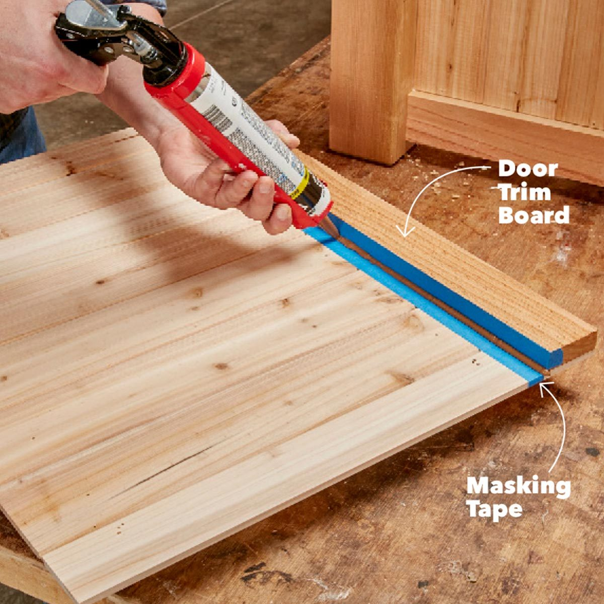 caulking fire table