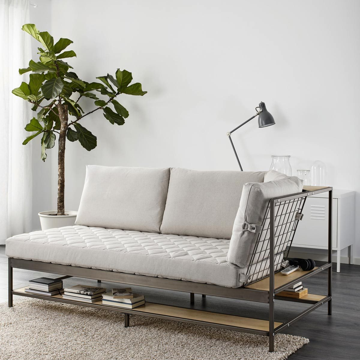 metal futon couch