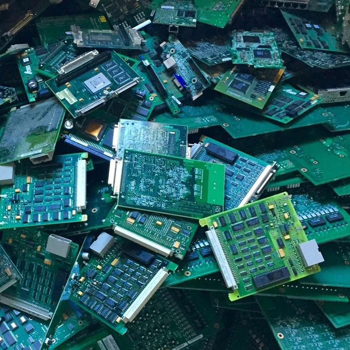 electronic waste circuit boards