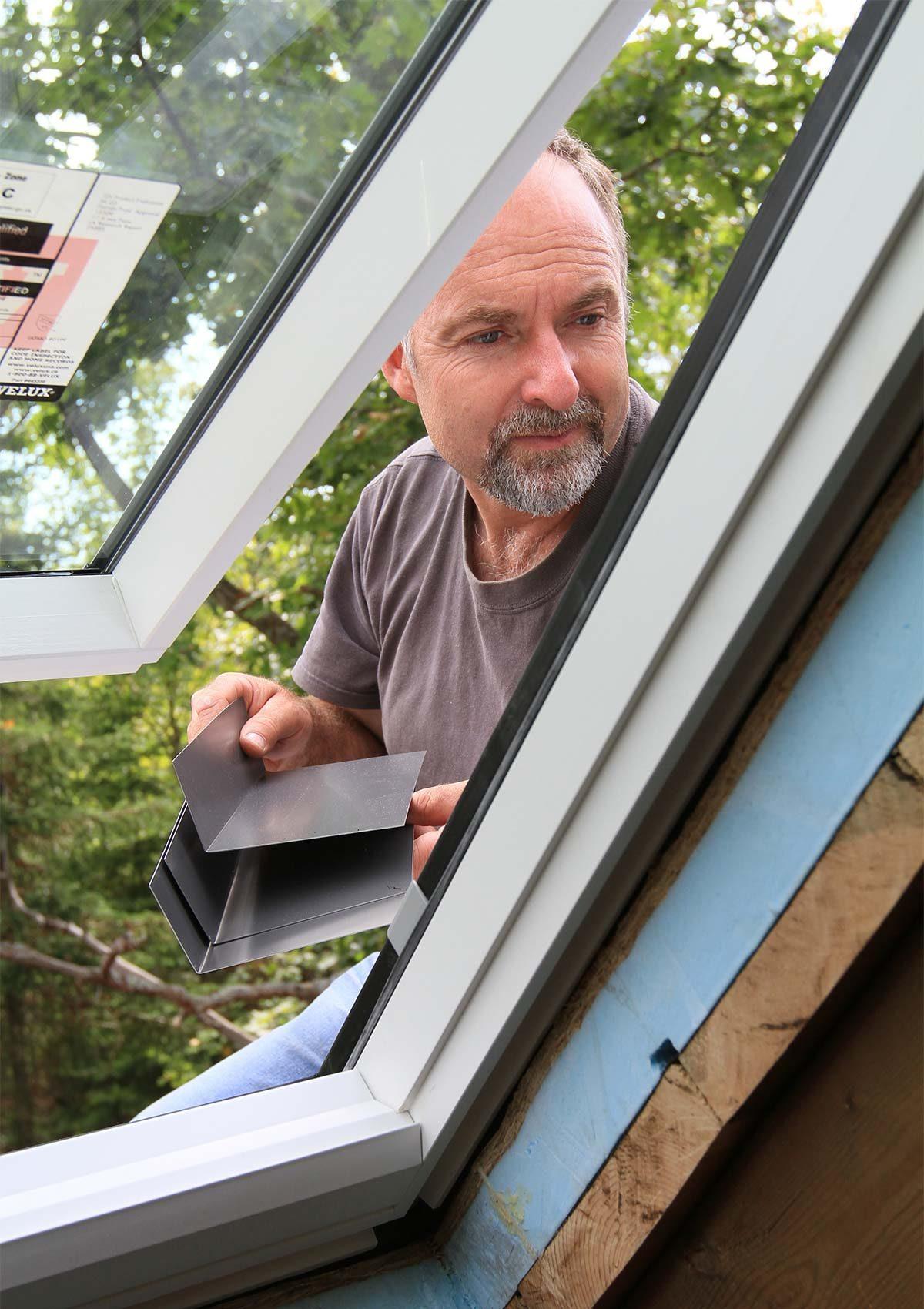 adding flashing to tiny house skylight