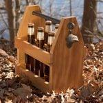 DIY Reclaimed Barn Wood Beer Caddy