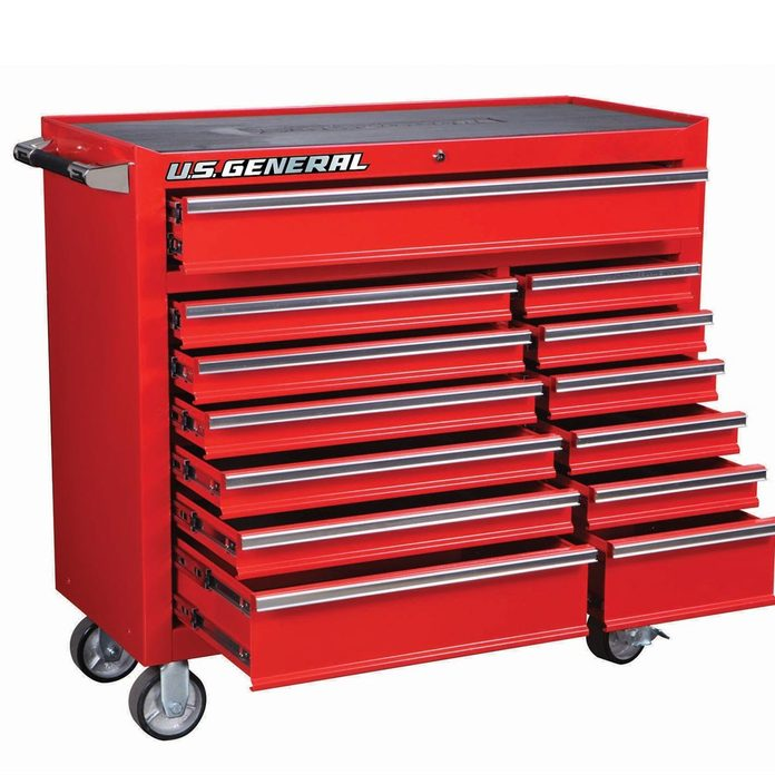 Classic Red tool chest Harbor Freight