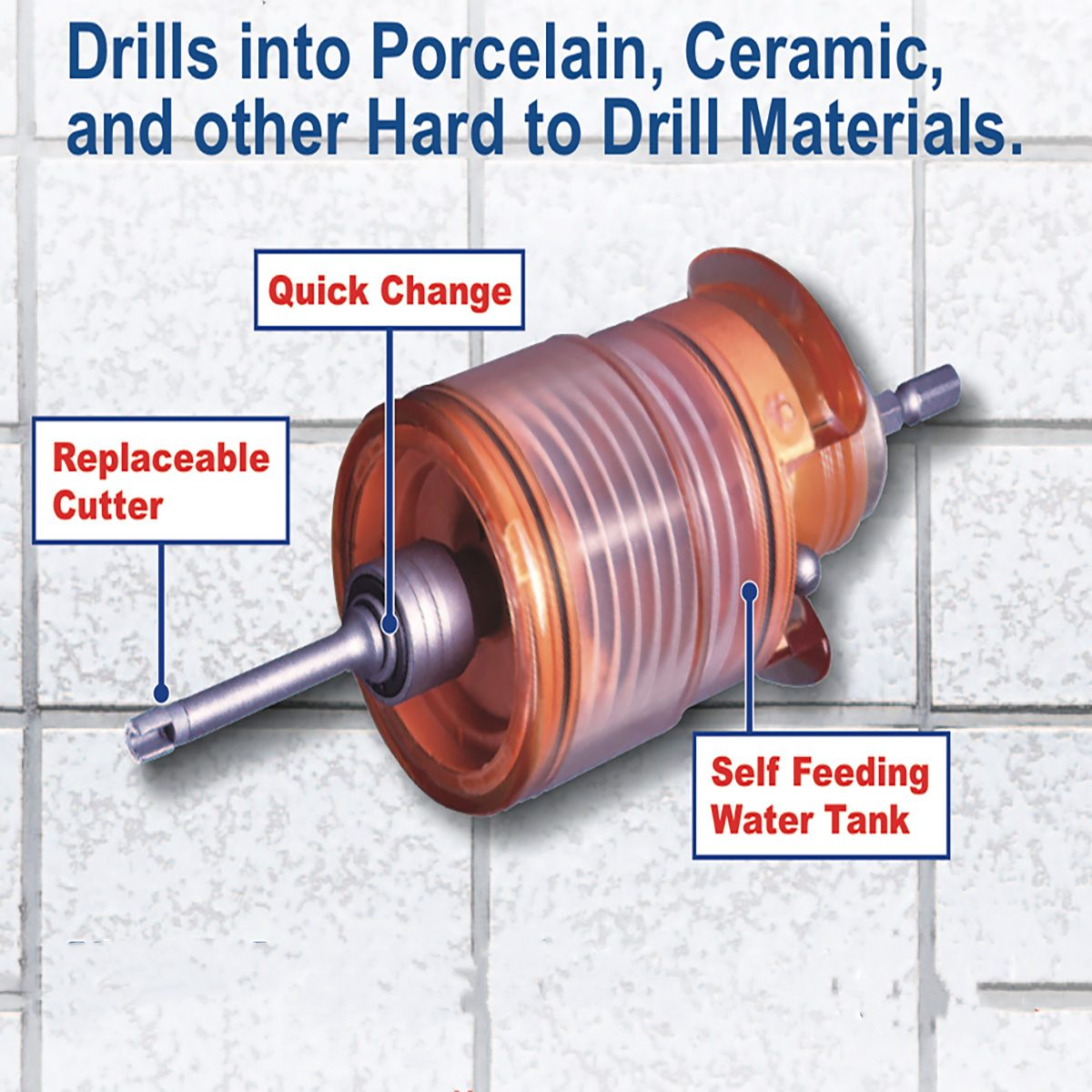 Aqua Shot Ceramic Tile Drilling