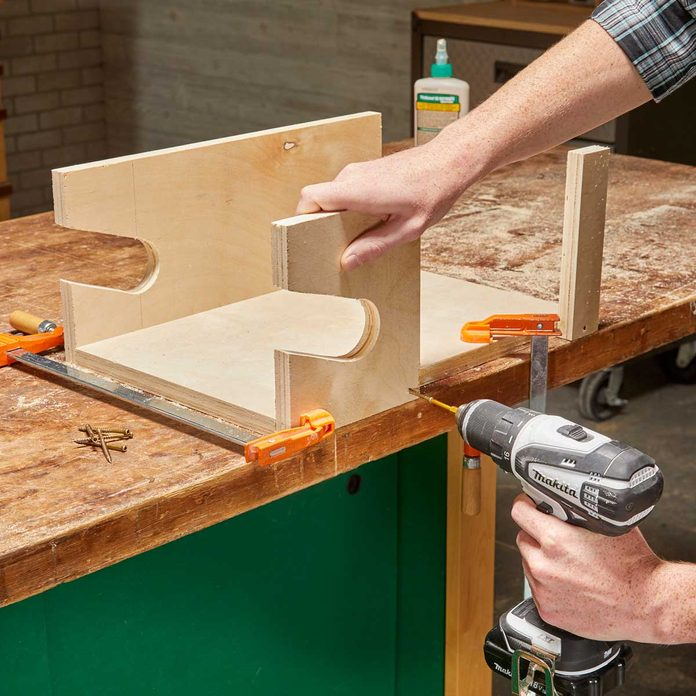 Glue and Screw Sides into Place