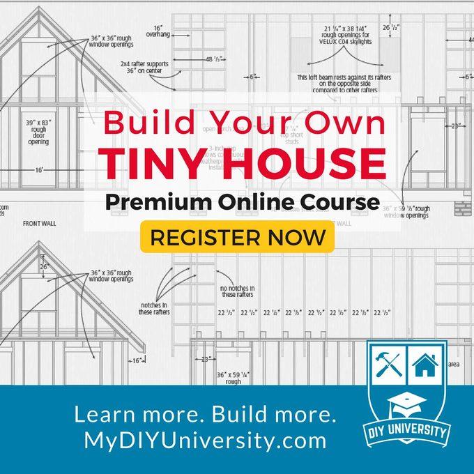 DIY University Tiny House course ad
