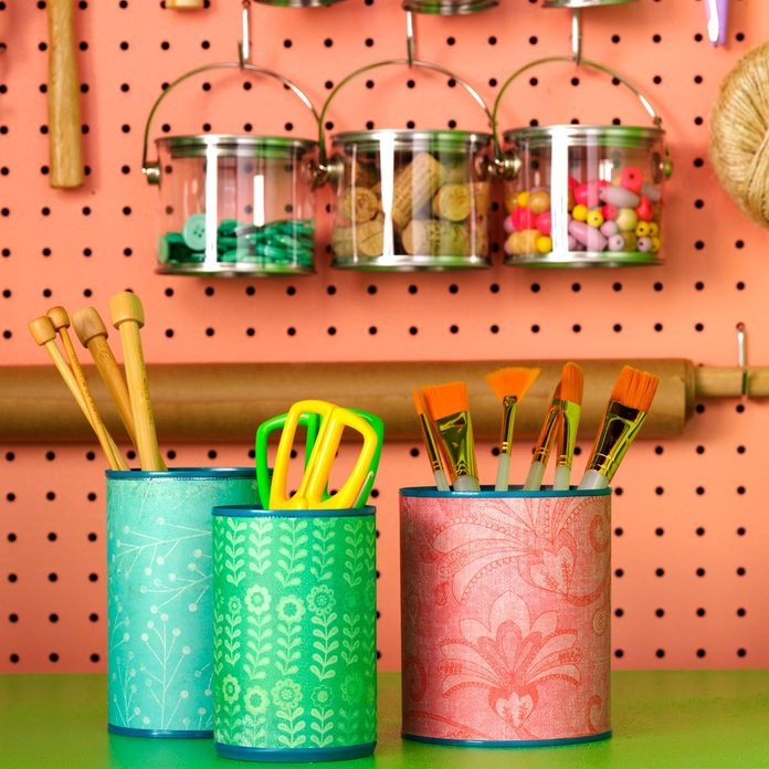 soup can pencil cups