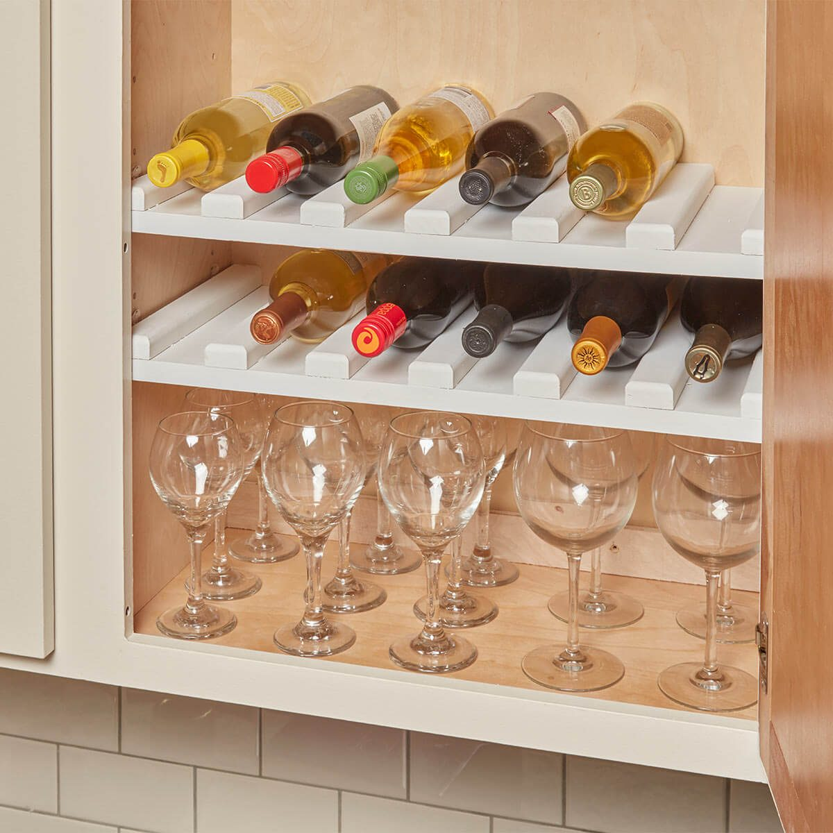cabinet wine rack & Easy-to-Make Wine Rack u2014 The Family Handyman