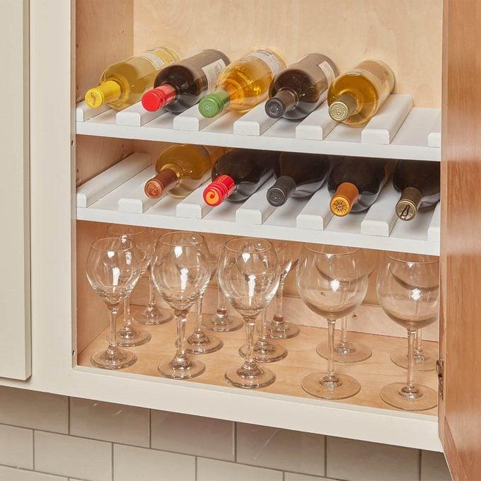 cabinet wine rack