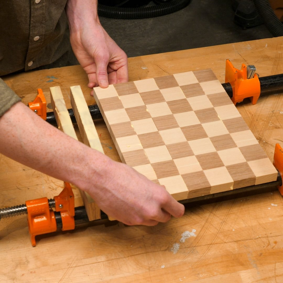 Chessboard Glue Up 2