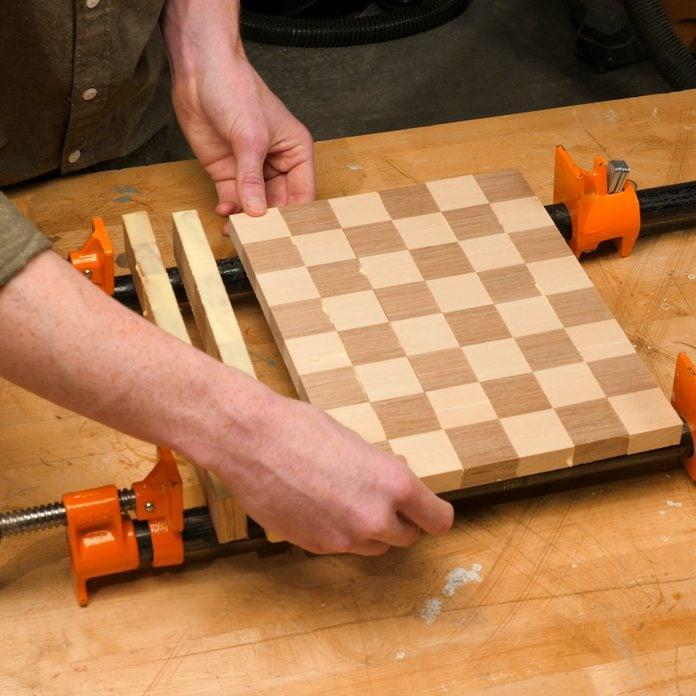 Chessboard Glue Up 2