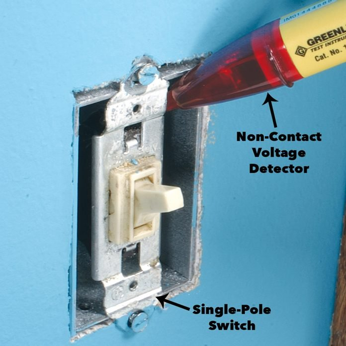 check for hot wires dimmer switch
