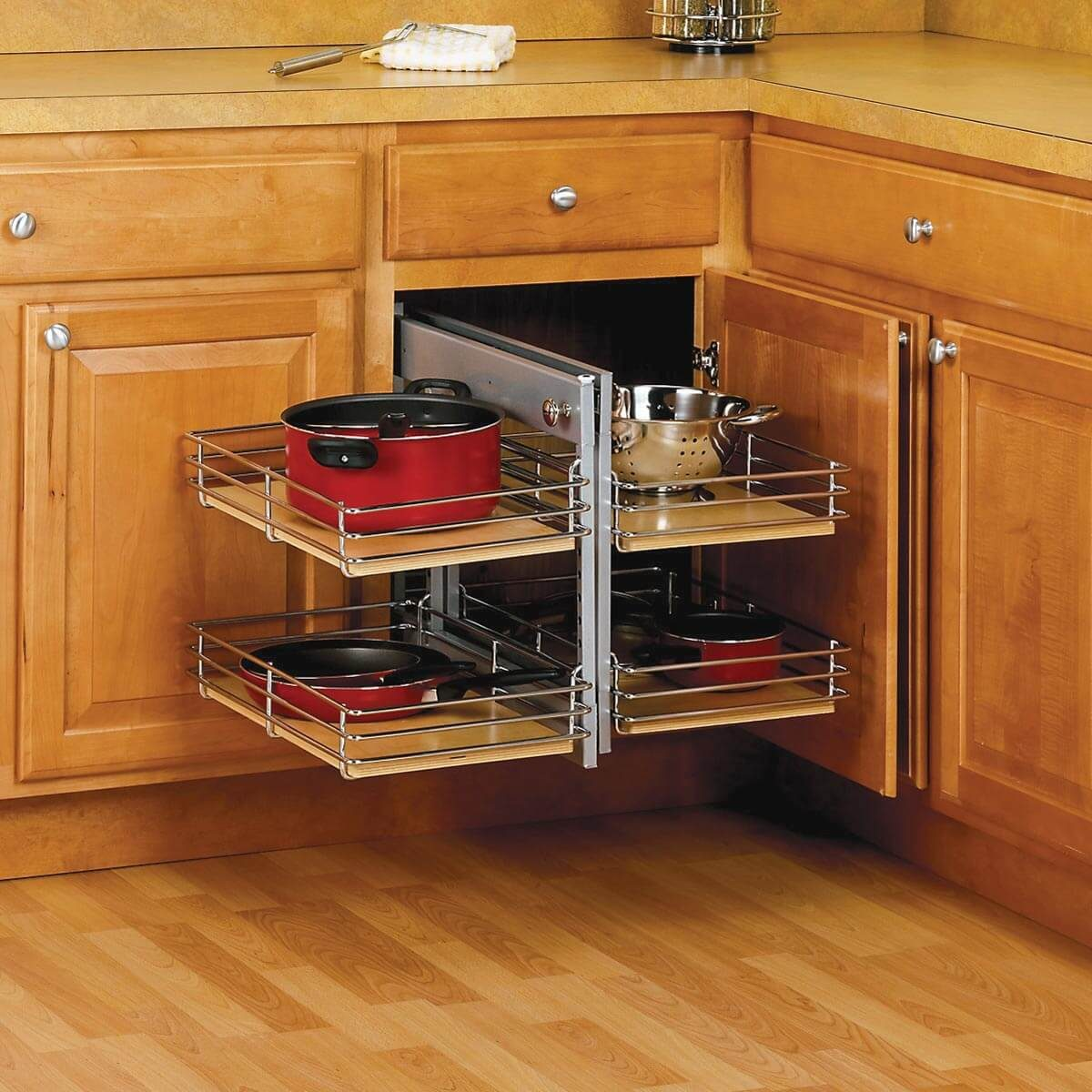 Make a Blind-Corner Cabinet More Accessible