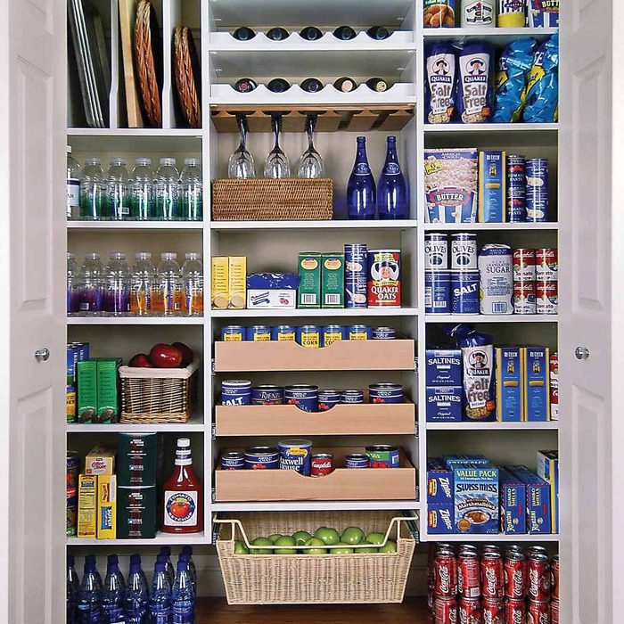 Pantry Cabinet in a Closet