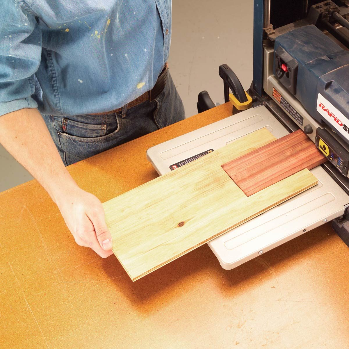 farewell, planer snipe — workshop tip from the family handyman