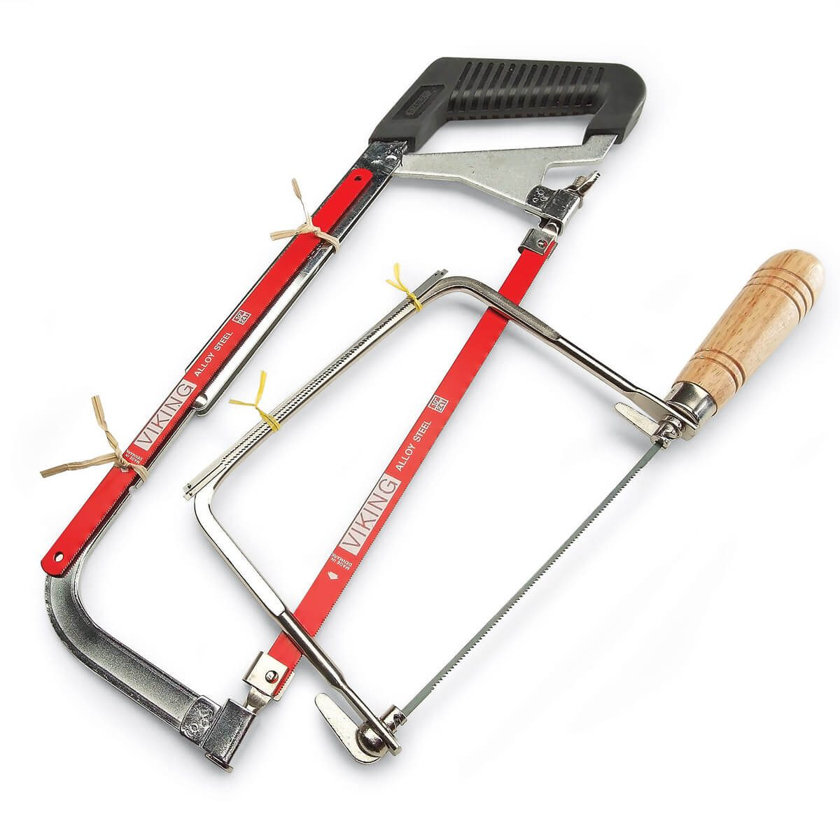 Blades on board workshop tip from the family handyman heres a sharp tip from reader george sarna use tape or twist ties to attach spare blades to the frames of your hacksaw and coping saw keyboard keysfo Images