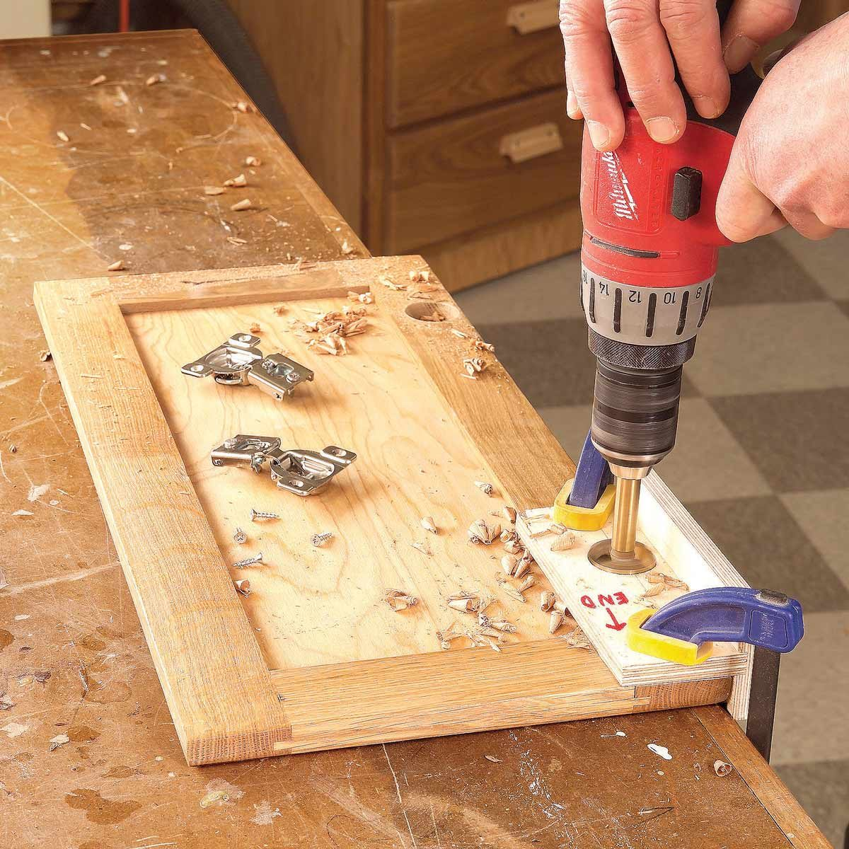 Euro Hinge Drilling Jig The Family Handyman