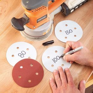 Legible Sanding Discs