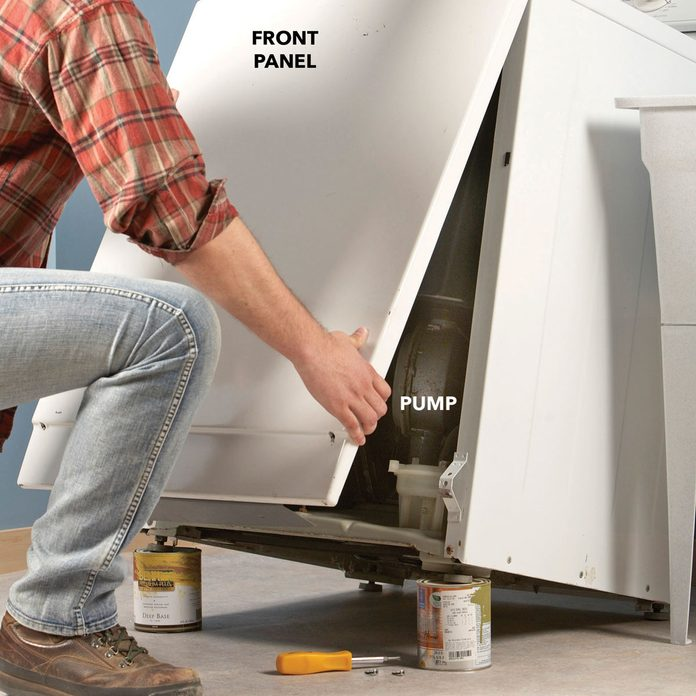 washer dryer repair remove front panel
