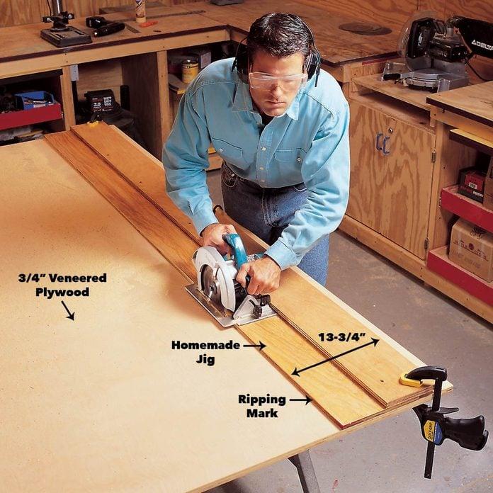 cut bookcase plywood