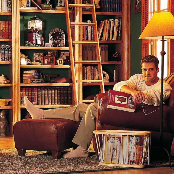 library classic floor to ceiling bookcase bookcase with rolling ladder, fancy bookshelf, home library bookshelves