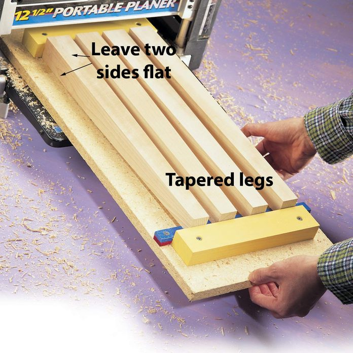 tapered legs on a thickness planer