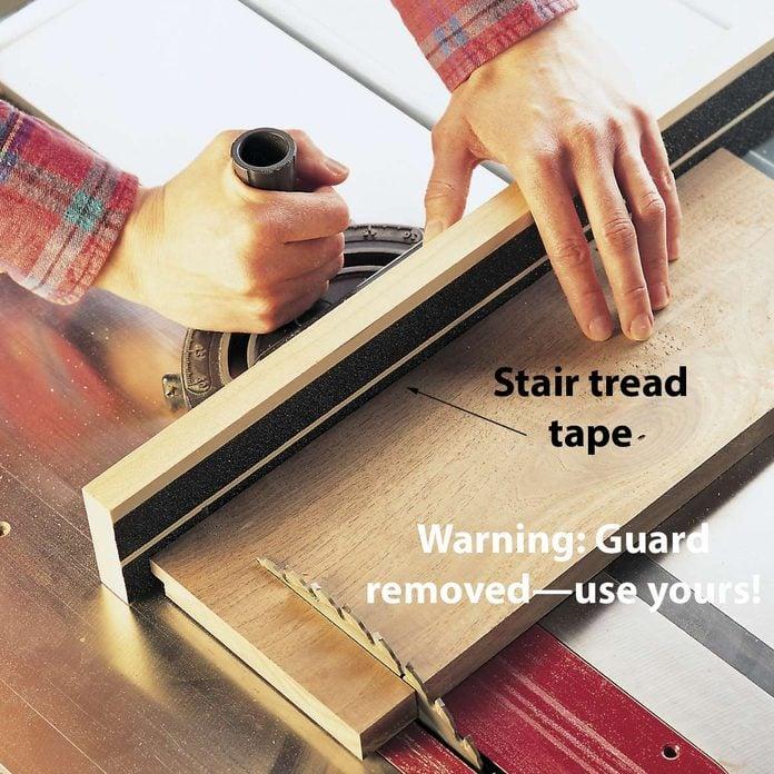 no-slide miter fence