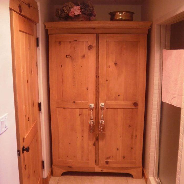 DIY trash to treasure armoire