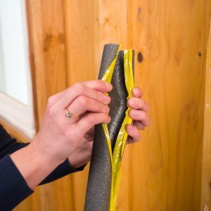 Use Pipe Insulation to Prevent Door Dings