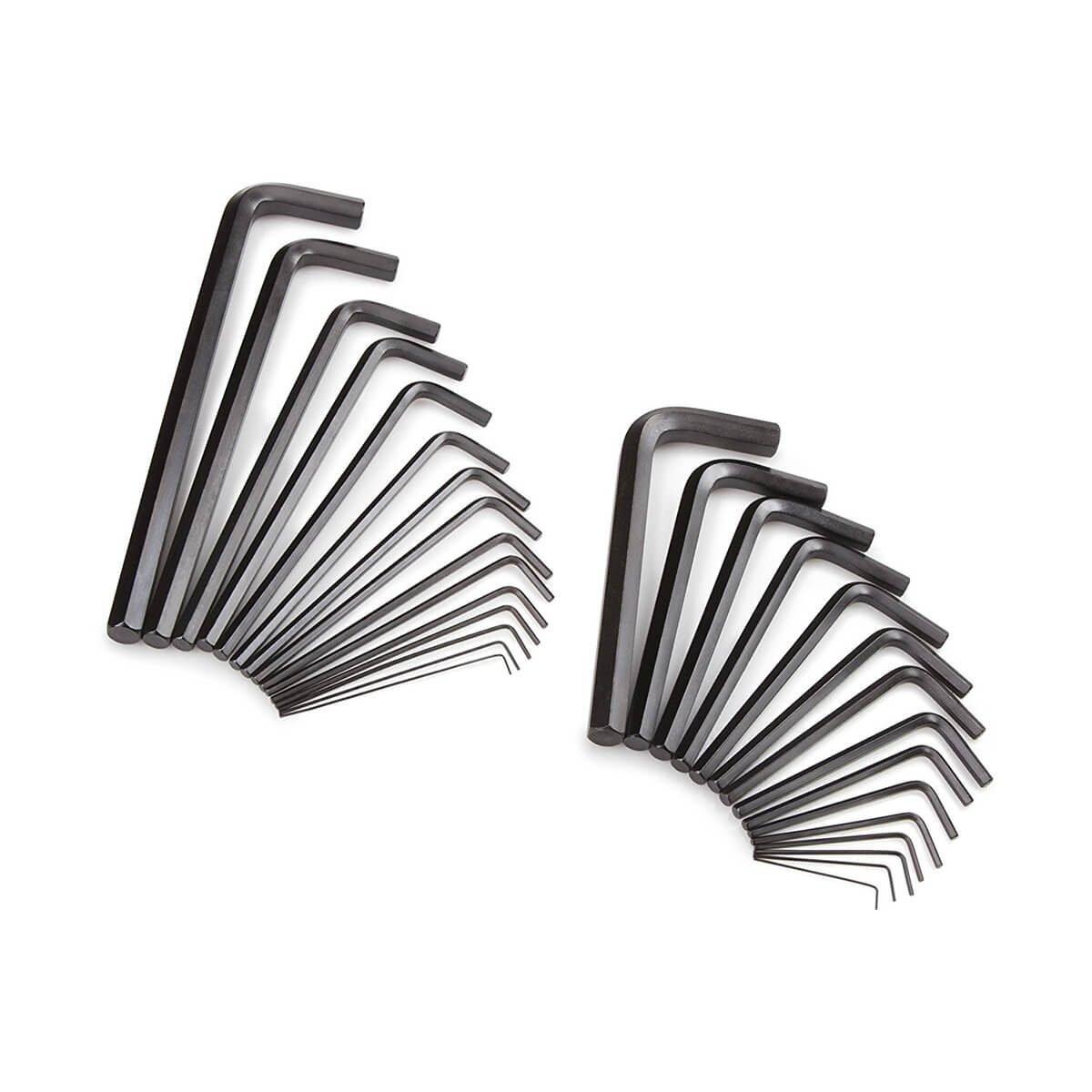 TEKTON Hex Key Wrench Set, Inch/Metric, 30-Piece