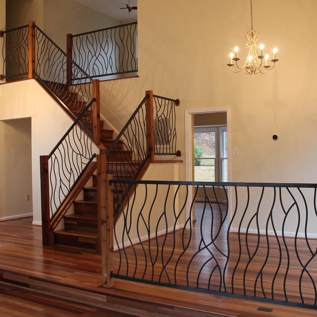 metal stairs railing