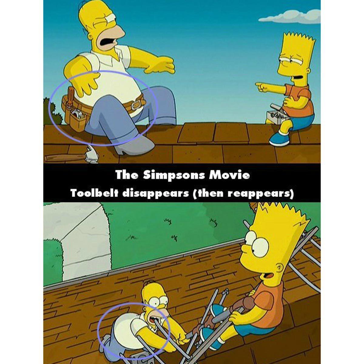 chimage simpsons movie mistakes
