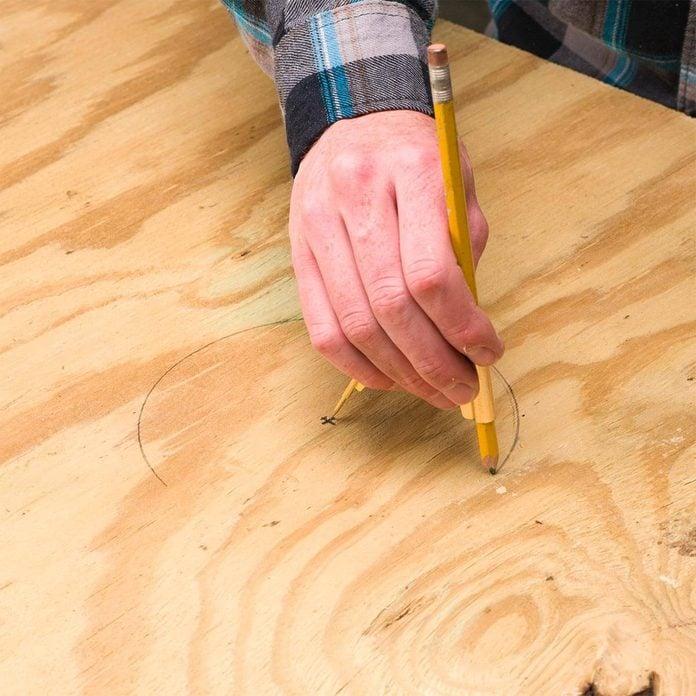 mark holes for cornhole boards