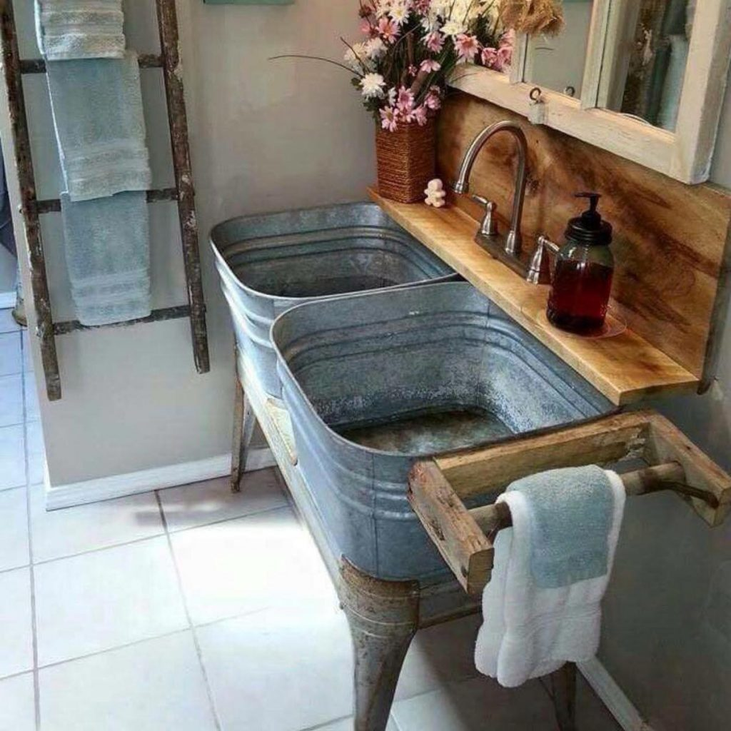 Old fashioned wash tubs 66