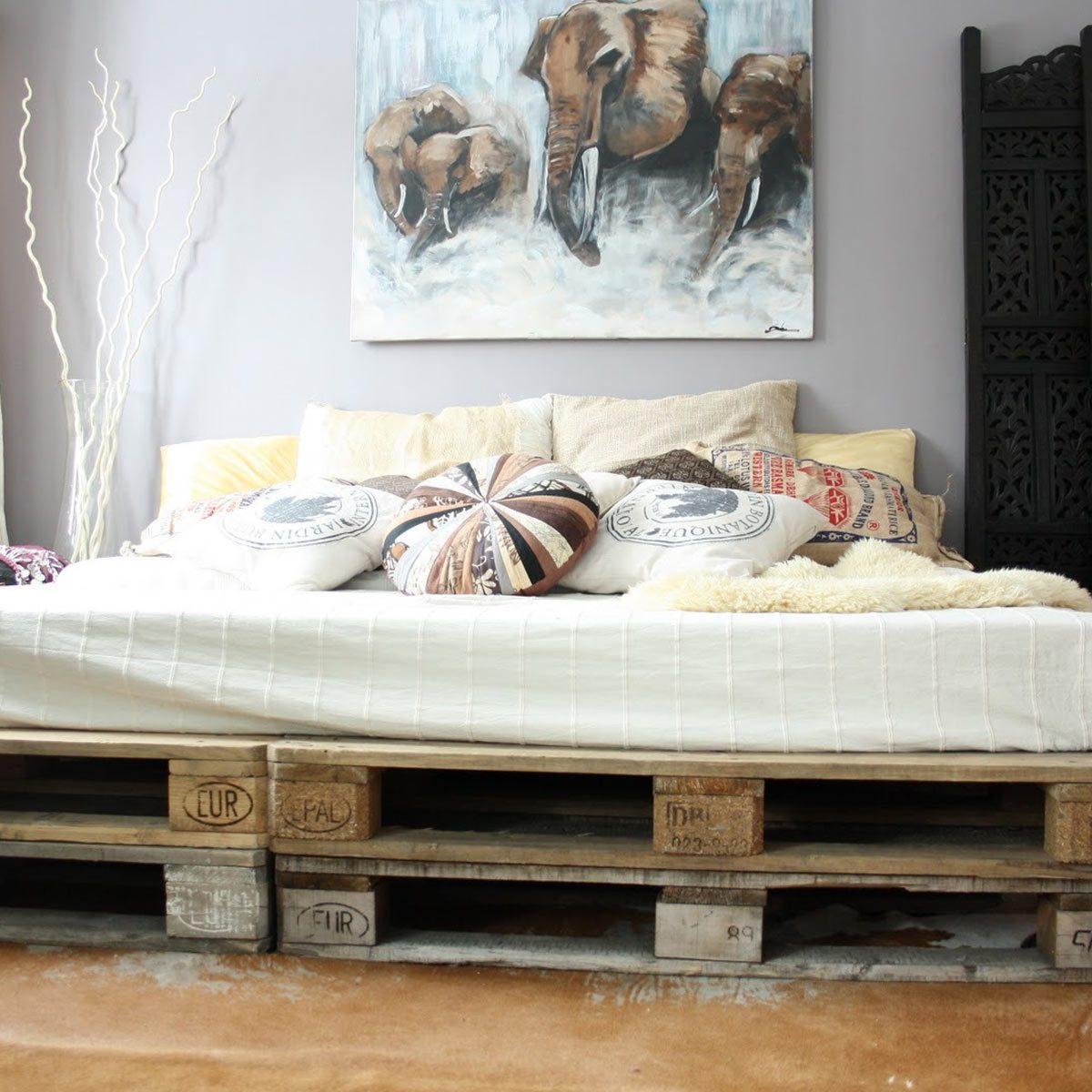 Pallet Based Platform Bed