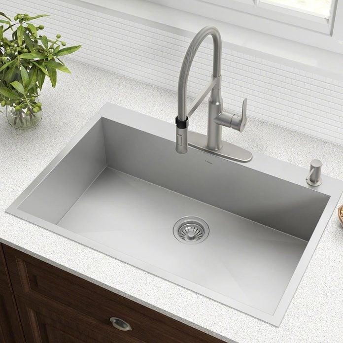 drop-in-sink kitchen