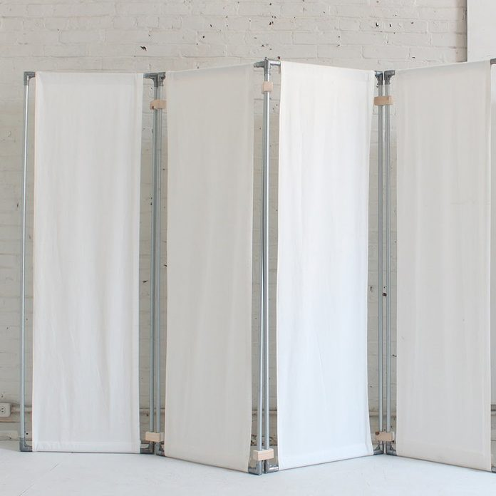 Fabric and Electrical Conduit Room Divider