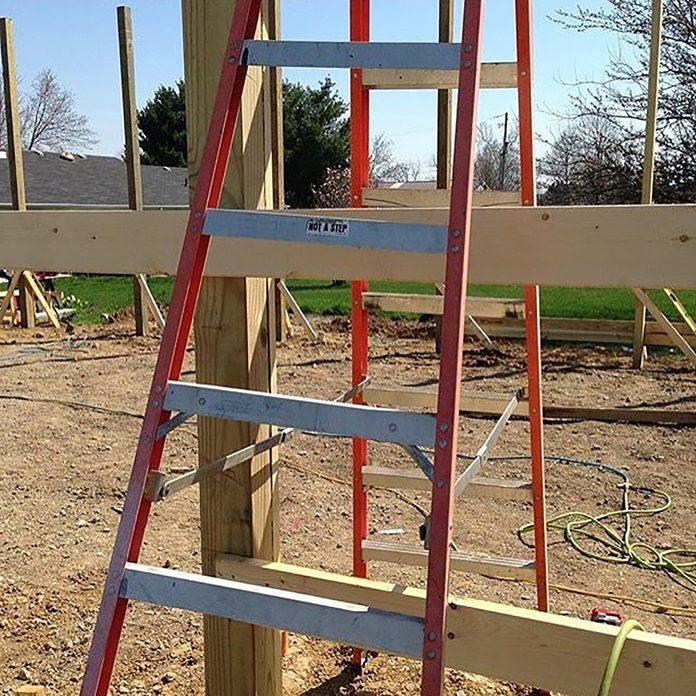 Ladder stuck