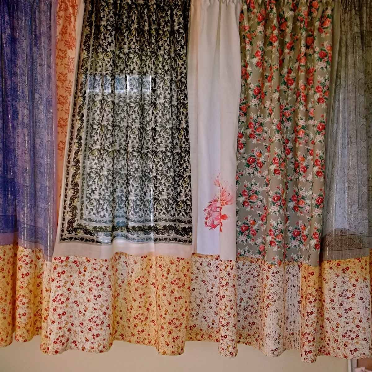 scarf-curtains diy curtain ideas
