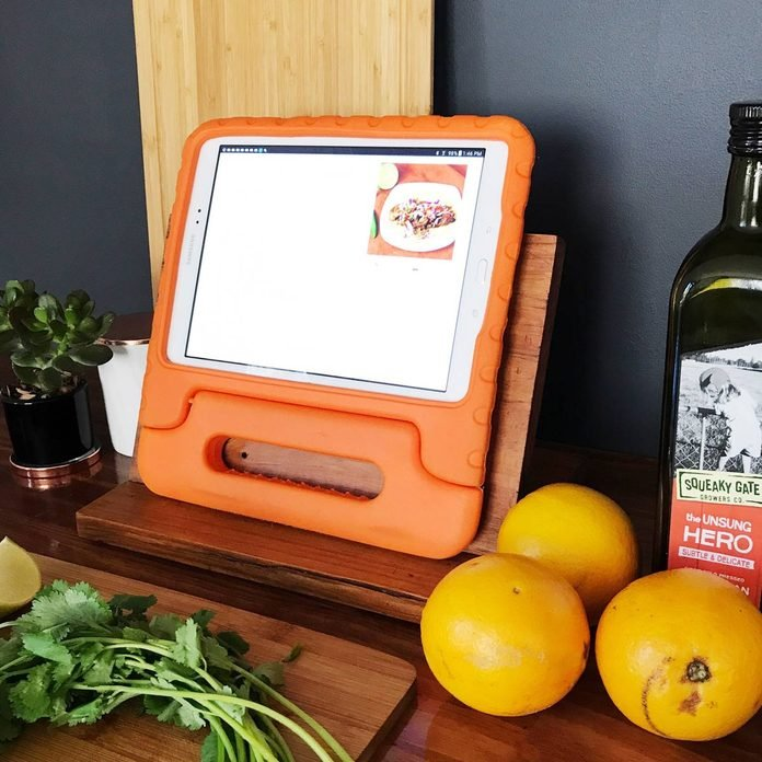 scrapwood tablet stand