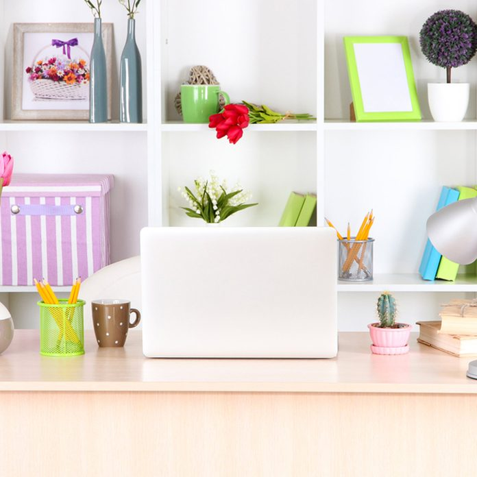 install shelves in home office