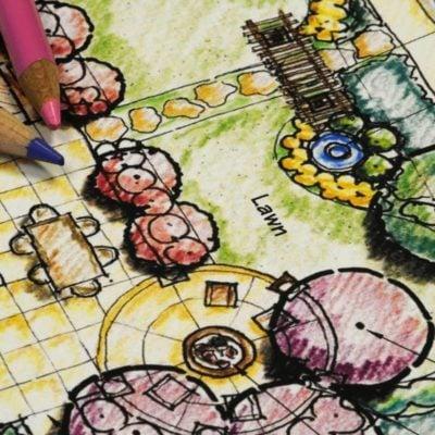 shutterstock_20147953 backyard landscaping layout plan