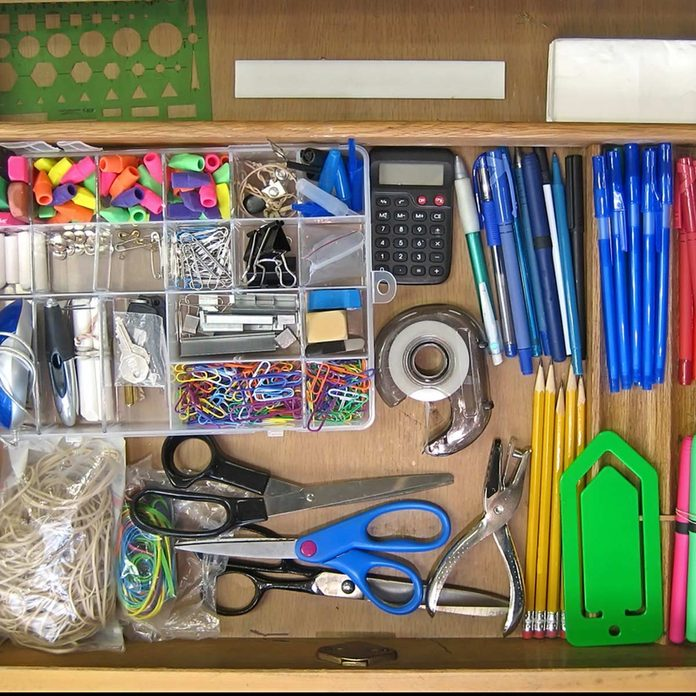 Items in desk drawer home office