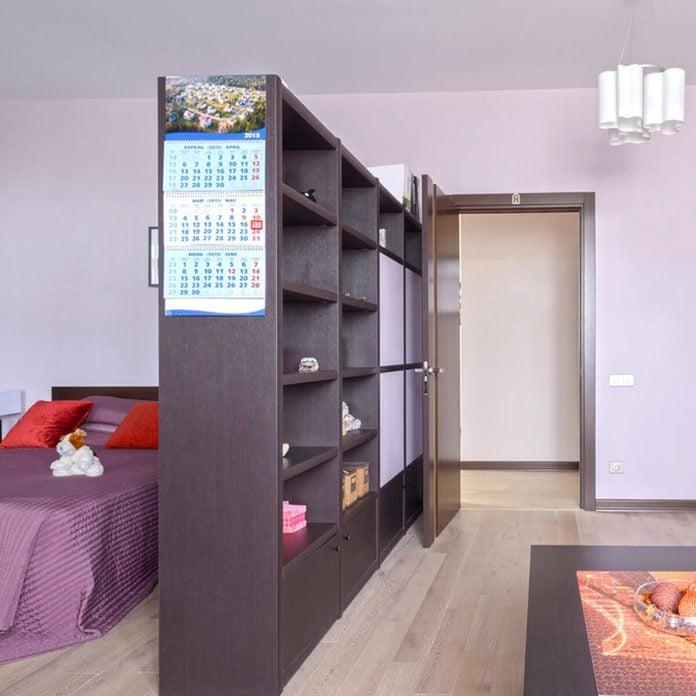 bedroom bookcase divider