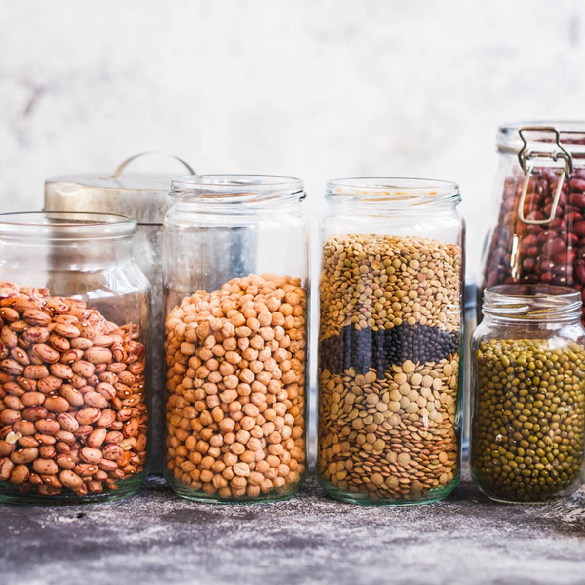 reusable jars grains beans