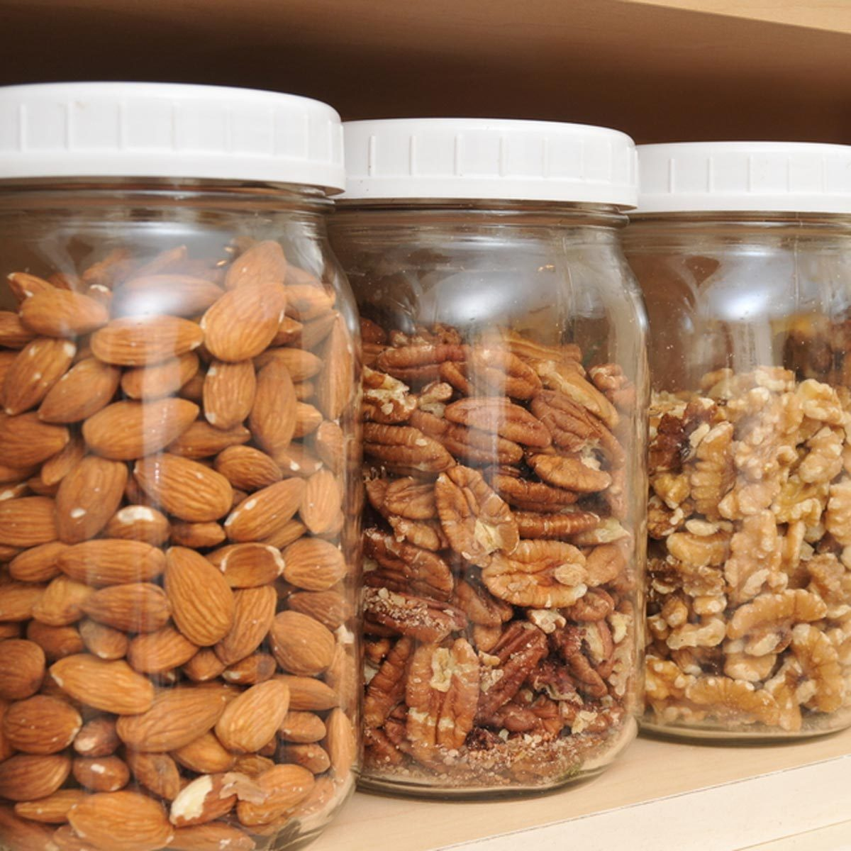 store nuts in reusable jars