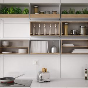 12 Ideas for Organizing with Open Shelving